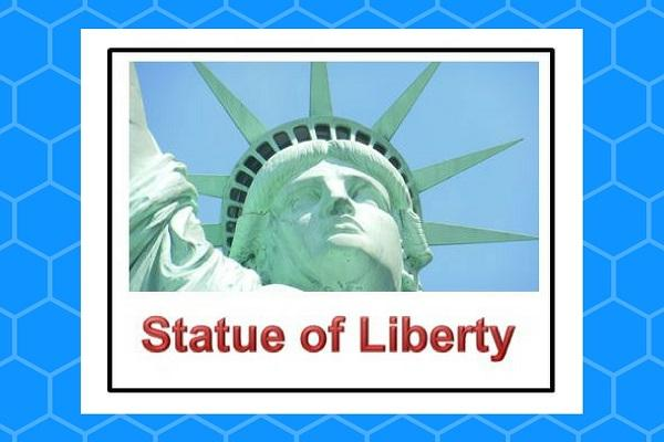 Sample object card: statue of Liberty