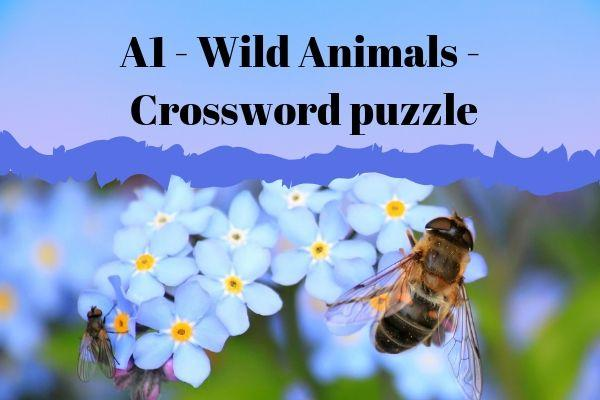 Wild animals crossword puzzle